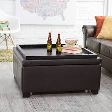 Large Leather Storage Ottoman Coffee Table by Ottoman Mesmerizing Storage Ottoman Coffee Table Leather Foot