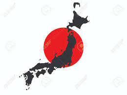 Japan Flag Black And White Map Of Japan And Japanese Flag Illustration Royalty Free Cliparts