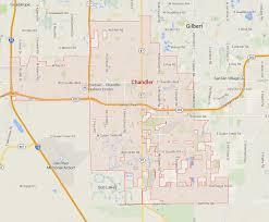 map of chandler az chandler arizona map