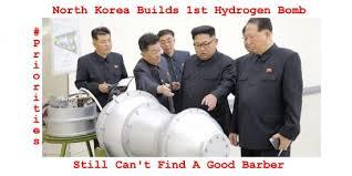 North Korea Memes - funny north korea builds 1st hydrogen bomb meme
