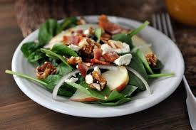 best spinach salad with apples bacon and feta cheese