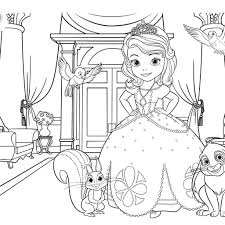6 images of sofia the first coloring pages princess sofia the