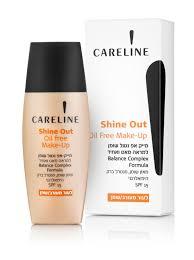 careline shine out oil free make up spf15