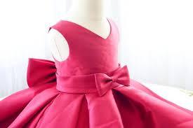 fuchsia sleeveless v neck baby dress toddler