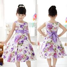 girls kids princess christmas party purple flower bow gown formal