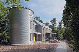 silo house plans in the round vacation home addition incorporates silo in design