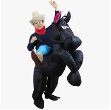 Inflatable Costume Halloween Aliexpress Buy Brown Cowboy Horse Funny Inflatable