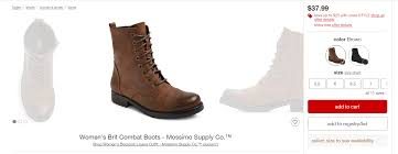 womens combat style boots target why exothermic doesn t support retargeting marketing practices