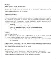 Internship On Resume Combination Resume Templates Chic Idea Basic Resume 5 Basic