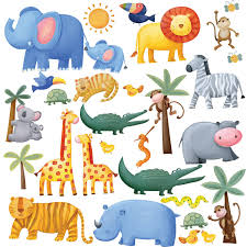 kids room interior wall decoration with kid wall decals for full size of color wall decal sticker decor design idea wild animal in the jungle wall