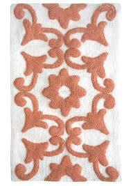 Peach Bath Rug Amazon Com Jessica Simpson Bali Yarn Dyed Cotton Bath Rug Burnt