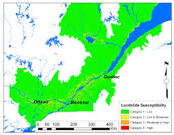 Ottawa Canada Map by Sensitive Clay Landslide Risk In Eastern Canada Draft Paper