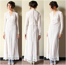 boho hippie wedding dress 60s 70s designer fringed floral cotton