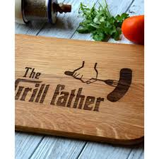 christmas gift bbq barbecue the grill father cutting board
