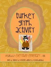 turkey glyph activity thanksgiving math language arts poetry