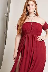 plus size m slit maxi dress forever 21 plus 2000202584 bree