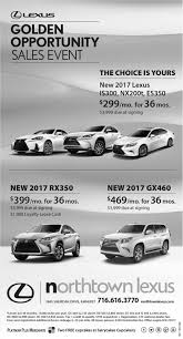 lexus dealership derby golden opportunity sales event northtown lexus buffalo ny