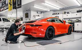 lava orange porsche c4 gts new car detail at nwas