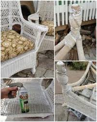 repainting old wicker my chairs look a lot like this and need