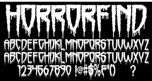 sinister fonts chad savage u0027s free original horror scary and
