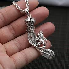 solid silver bracelet charms images Solid silver 925 lion crown feather pendant charms for necklace jpg