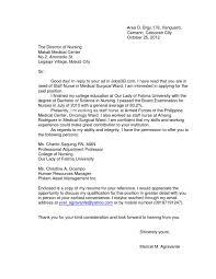 nursing cover letter se nursing application letter