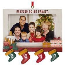 blessed to be family 2017 picture frame hallmark ornament gift