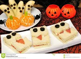healthy halloween monster sandwiches banana ghosts and orange