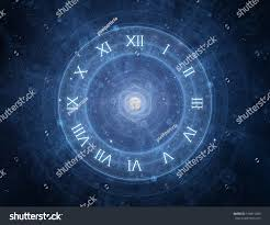 time roman clock new age spiritual stock illustration 146811080
