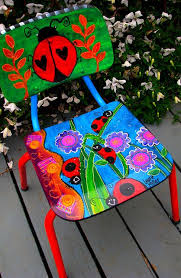 Painted Chairs Images 167 Best Painted Chairs Images On Pinterest Painted Chairs