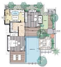 villa plan floor plan pool villa samui spa ideas villas