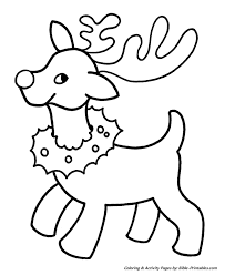 easy pre christmas coloring pages christmas reindeer