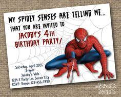 the amazing spiderman 2 birthday invitation printable digital