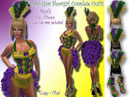 mardi gras mesh second marketplace mardi gras showgirl complete