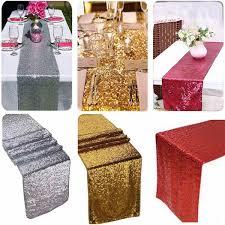 home decor table runner sparkly sequins bed table runner tablecloth flag tassel wedding