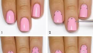 pink and silver polka dot nail art tutorial