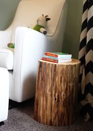 tree stump accent table river s rustic modern nursery tree stump side table tree stump