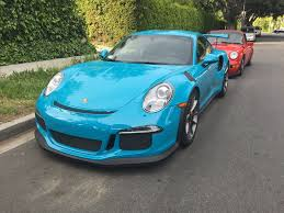 miami blue porsche gt3 rs friend got a pts miami blue rs rennlist porsche discussion forums