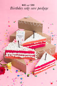 Birthday Care Package Ombre Birthday Cake Care Package The House That Lars Built