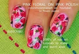 nail art diy easy red rose nails for beginners design tutorial
