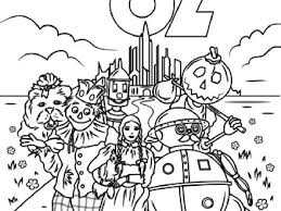 4 printable wizard of oz coloring pages toto wizard of oz