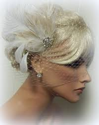 fascinators hair accessories wedding set bridal veil and feather fascinator weeding hair clip