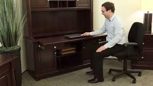computer desk and credenza credenza desk sauder palladia officefurniture com youtube