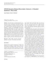 stem education related dissertation abstracts a bounded