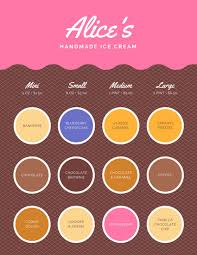 pink assorted flavors ice cream menu templates by canva