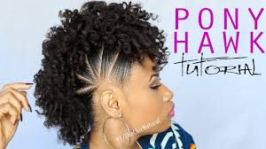 weave mohawk hairstyles the pony hawk natural hairstyle youtube 2017