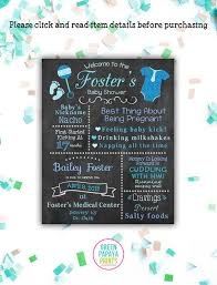 baby shower poster blue boy baby shower poster welcome sign baby shower