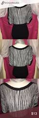 belldini grey u0026 black banded blouse size large this blouse has
