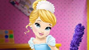 ღ baby disney princess cinderella house cleaning cute baby games