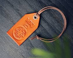 personalized keychain party favors 6 custom personalized leather luggage tags filler